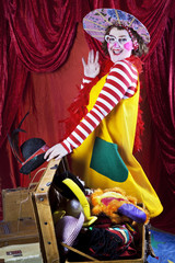 Clown in der Klemme